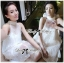 Lady Ribbon's Made Lady Florence Gorgeous Pearl Embellished with Ribbon Dress in White thumbnail 1