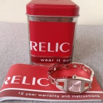 นาฬิกามือสอง RELIC พร้อมกล่อง ,คู่มือและข้อต่อสาย