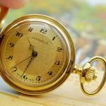 นาฬิกาพกวินเทจ CARAVELLE ไขลาน