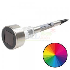 ไฟปักสนามโซล่าเซลล์ 1 LED (เเสง : หลากสี )