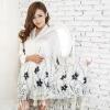 ผ้าพันคอ Pashmina พาสมีน่า ลาย ดอกไม้ PM00102-6