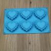 พิมพ์ซิลิโคน รูปหัวใจ 6 ช่อง (สีอาจไม่ตรงตามรูป คละให้นะคะ แล้วแต่ล็อตของโรงงาน)