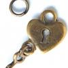 ABS หัวซิป กุญแจหัวใจ