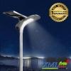 โคมไฟถนนโซล่าเซลล์อัจฉริยะ ทรง flybird รุ่น 65 watt Monocrystalline (แสง : ขาว)
