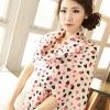 ผ้าพันคอ ชีฟอง สกรีนลาย Chiffon CF01-030