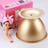 พิมพ์เค้ก กระโปรงเจ้าหญิง เทฟล่อน สีทอง (Nonstick) 19.5*14.5*15cm.