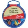 เข็มหมุดหัวแบบรูปดอกไม้ Flower Head Pin: 60PCS