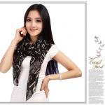 ผ้าพันคอ ชีฟอง Chiffon ผืนใหญ่ CF01012