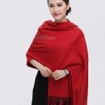 ผ้าพันคอ Red Cashmere แคชเมียร์ สี แดง CM01008