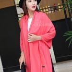 ผ้าพันคอ Pink Cashmere แคชเมียร์ สี ชมพูอมส้ม CM01011