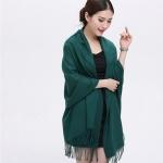 ผ้าพันคอ Green Cashmere แคชเมียร์ สี เขียว แก่ CM01019
