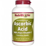 NutriBiotic, Ascorbic Acid, Crystalline Powder, 16 oz (454 g) วิตามินซีแบบผง ระดับ Pharmaceutical Grade มีความบริสุทธิ์ 100% ประสิทธิภาพสูงที่สุดเมื่อเทียบกับวิตามินซีประเภทอื่น
