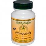 Healthy Origins, Pycnogenol, 100 mg, 30 Veggie Caps รับประทาน pycnogenol 100 mg เพียง 1 เม็ด ออกฤทธิ์ได้ดีกว่าการกิน grape seed ในปริมาณสูงๆ ช่วยปรับสภาพผิวที่หมองคล้ำ กระ ฝ้า สีผิวไม่สม่ำเสมอจากการทำลายของแสง UV