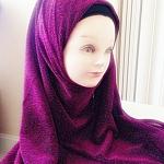 ผ้า คลุม อิสลาม เนื้อ เกล็ดทราย HJ1156