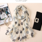 ผ้าพันคอ ผ้าคลุม ไหมญี่ปุ่น สกรีนลาย SJ01-016