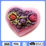 ซิลิโคนสำหรับทำฟองดองท์ กัมเพส รูปหัวใจ (เล็ก)