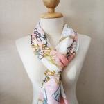 ผ้าพันคอ ชีฟอง สกรีนลาย Chiffon CF01-025-1