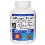 Natural Factors, RxOmega-3 Factors, EPA 400 mg / DHA 200 mg, 120 Softgels สุดยอด Omega3 มีสัดส่วนของกรดไขมันไม่อิ่มตัว EPA และ DHA สูงมาก ช่วยบำรุงและเสริมสร้างเซลล์สมองและระบบประสาทได้อย่างดีเยี่ยม