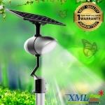 โคมไฟถนนโซล่าเซลล์อัจฉริยะ + ลำโพงฟังเพลง ทรง Butterfly รุ่น 40 watt Monocrystalline (แสง : ขาว)