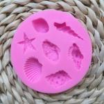 โมล พิมพ์ซิลิโคนสำหรับทำฟองดองท์ กัมเพส รูปหอยทะเล