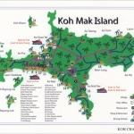 โปสการ์ด แผนที่เกาะหมาก จังหวัดตราด /แผนที่