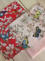 ผ้าพันคอ ผ้าคลุม ไหมญี่ปุ่น สกรีนลาย SJ01-013