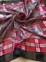 ผ้าพันคอ ผ้าคลุม ซาติน แก้ว บางๆ ST03-004