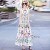 D&G Field Fest Frill Slip Maxi Dress