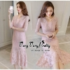 Luxury Classic Vintage Lace Long Dress