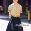 Floral Crystal Denim Dress With Belt
