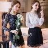 Blossom printing long sleeve dress