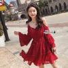 Star lace off shoulder dress