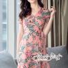 Crepe Dress Floral Print Chic Chic Vintage Style
