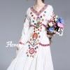 Dress คอวี แขนตุ๊กตา