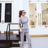 Summer Check Swipe With Pants Set