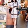 Mini dress Wila คอวี แต่งแขนตุ๊กตา