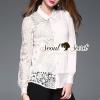 เสื้อผ้าเกาหลีพร้อมส่ง T-Shirt Black&White Classic Tow-tone