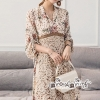 Lace Dress Floral Print Chic Chic Vintage Style