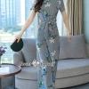 Rona Stripe Floral Print With Pants Set