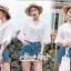 Lace Shirt White Circle Korea Style thumbnail 7