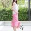 ชุดเซท เสื้อแมทซ์กับกางเกงขาบาน สีชมพูนมเย็น thumbnail 9