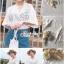 Lace Shirt White Circle Korea Style thumbnail 6