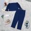 ชุดเซ็ต 2 ชิ้น ผ้าโฟเวย์สีพื้นใส่คู่กับกางเกงผ้าโฟเวย์มีซิปหลังใส่ง่าย thumbnail 9