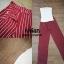 เซ็ตเสื้อสายเดี่ยวโซ่มาคู่กับกางเกงขายาวลายทางสีแดงสวยสด thumbnail 2