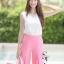 ชุดเซท เสื้อแมทซ์กับกางเกงขาบาน สีชมพูนมเย็น thumbnail 6