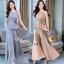 Fashionable sleeveless top long pants set thumbnail 2