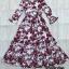 Dress แขนยาวระบายคอV ดีไซร์งาม thumbnail 8