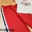 เซ็ตเสื้อยืดคอกลม แถบสีแดงมาพร้อมกางเกงสีแดง ช่วงเอวสม็อกแบบดีนะคะ thumbnail 7
