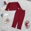 ชุดเซ็ต 2 ชิ้น ผ้าโฟเวย์สีพื้นใส่คู่กับกางเกงผ้าโฟเวย์มีซิปหลังใส่ง่าย thumbnail 8