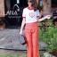 เสื้อยืดงานปักลิงลูกท้อรอบนี้จับแมทกางเกงลายไทย thumbnail 4